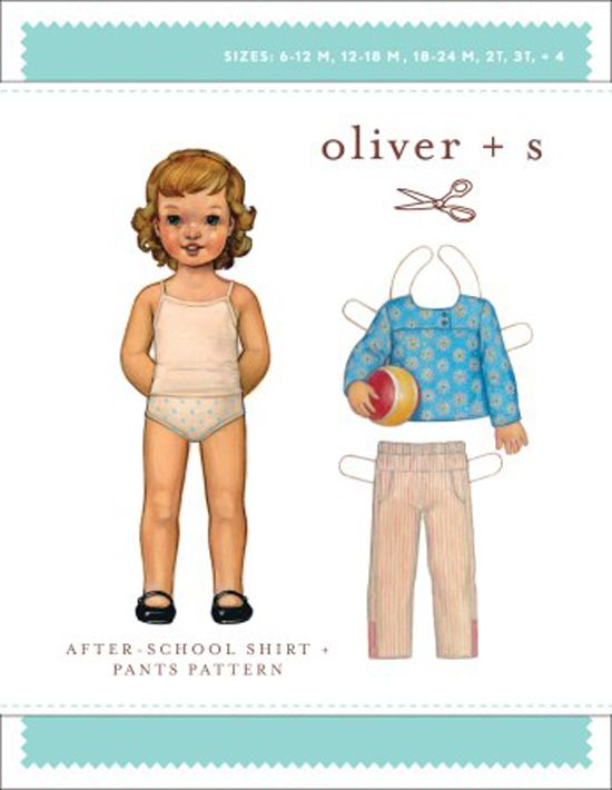 After School Shirt and Pants - Oliver And S Sewing Pattern