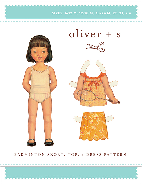 Badminton Skort, Top + Dress - Oliver and S sewing pattern