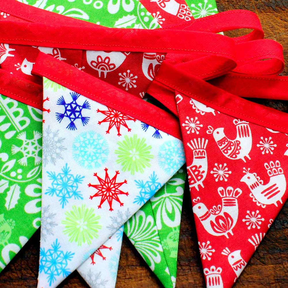 DIY Bunting Kit - Folk Art  Holiday