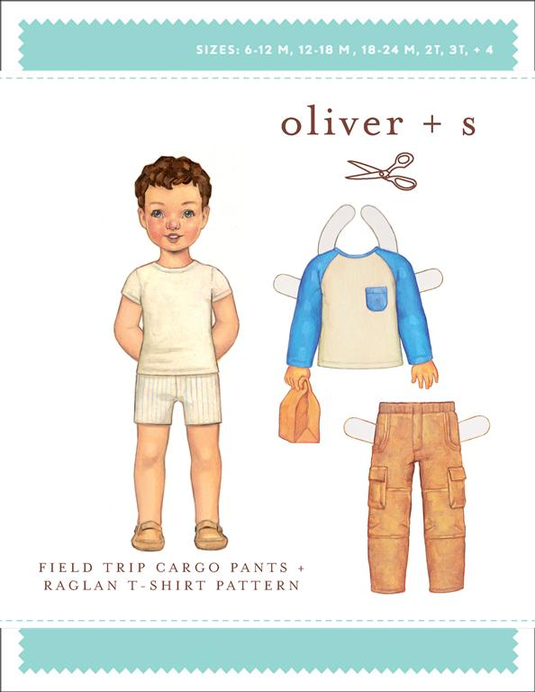 Field trip cargo pants + Raglan t-shirt - Oliver and S sewing pattern
