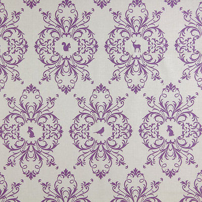 Gutermann Fabric Animals French Cottage Purple - per quarter metre