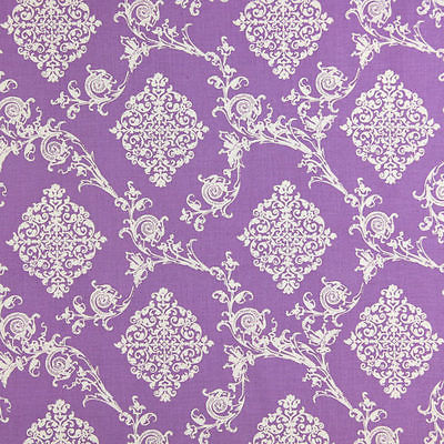 Gutermann Fabric Ornament French Cottage Purple - per quarter metre