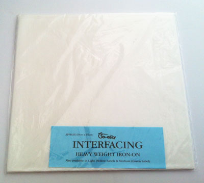 Heavy weight iron-on Interfacing