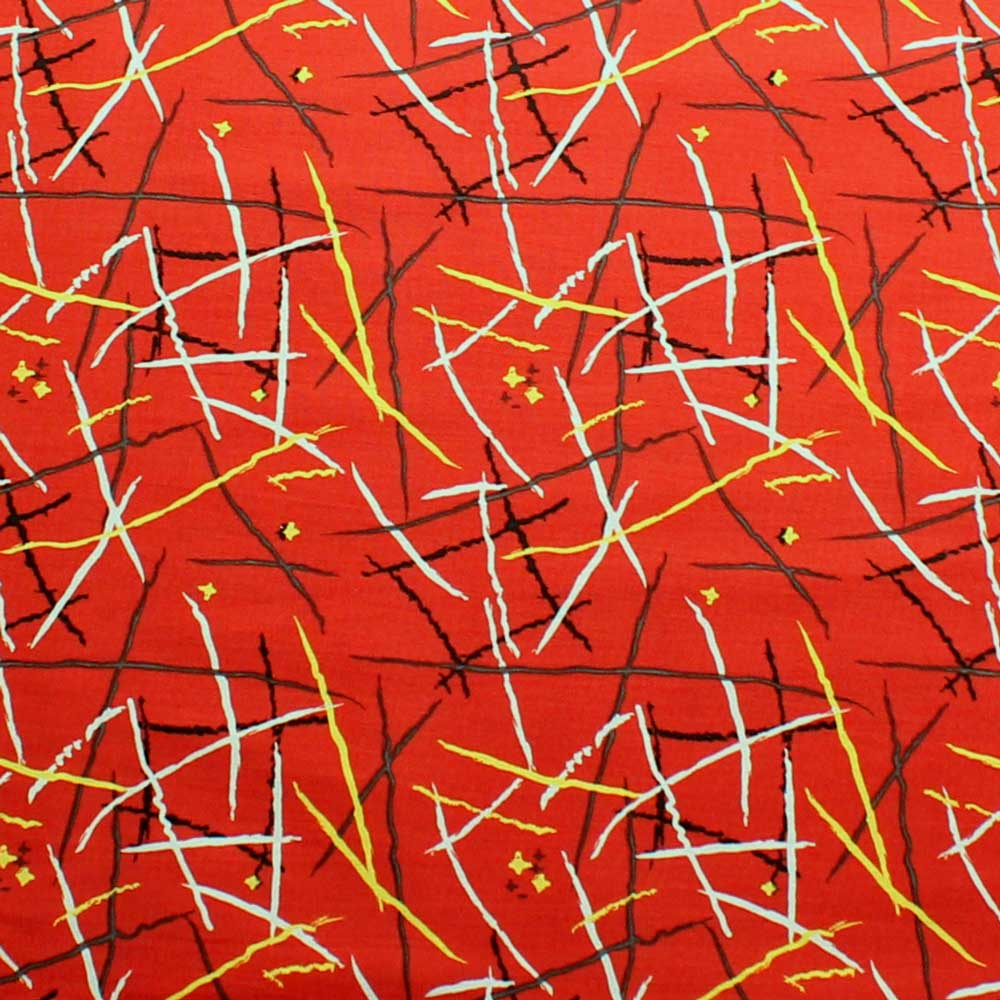Hemingway Designs Brick Red Threads fabric - per quarter metre