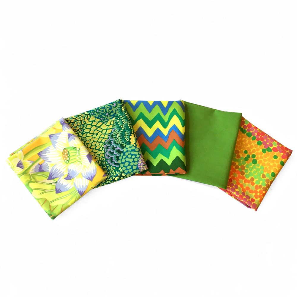 Kaffe Fassett 5 Fat Quarters - Brazen Greens