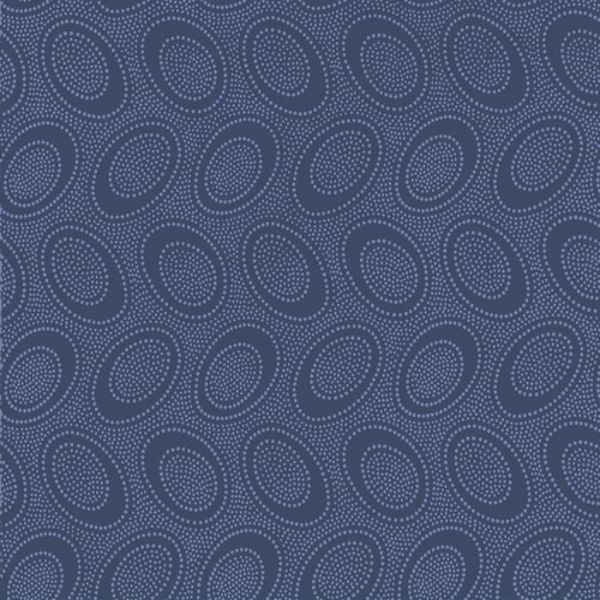 Kaffe Fassett - Aboriginal Dot - Denim - Per Quarter Metre