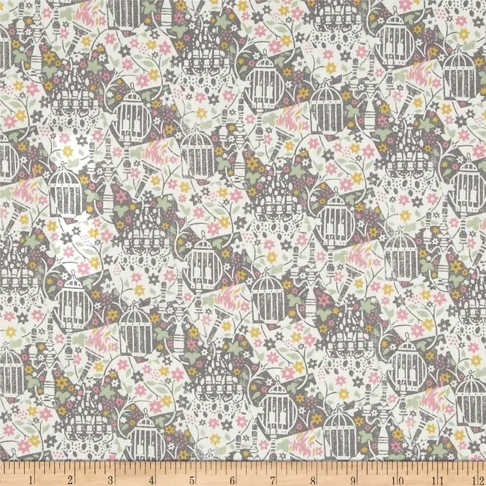 Liberty Fabric - Eternal Flame Pink/Grey Tana Lawn - per quarter metre