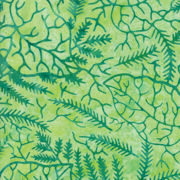 Moda Fabrics - Bonfire Batiks - Leaf Jungle - per quarter metre