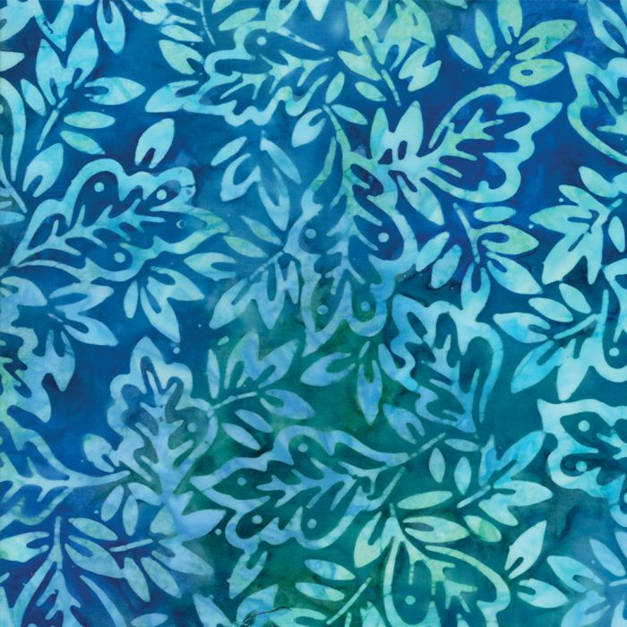 Moda Fabrics - Sun-Kissed Batiks - Ocean Leaves - per quarter metre