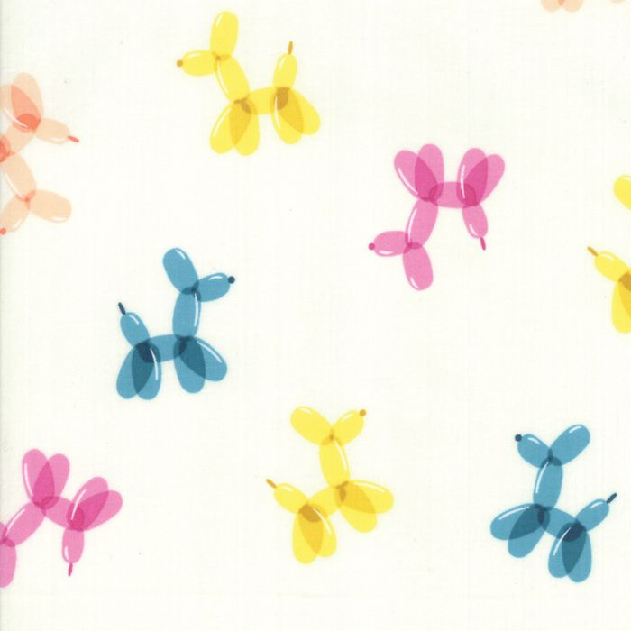 Ruby Star Fabrics - Balloon Animals - Cream Soda - per quarter metre