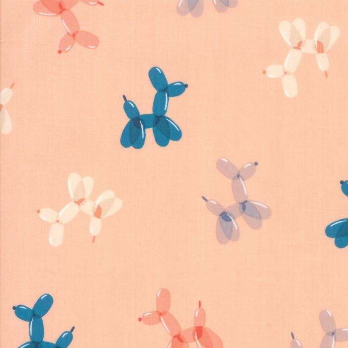 Ruby Star Fabrics - Balloon Animals - Peach Fizz - per quarter metre