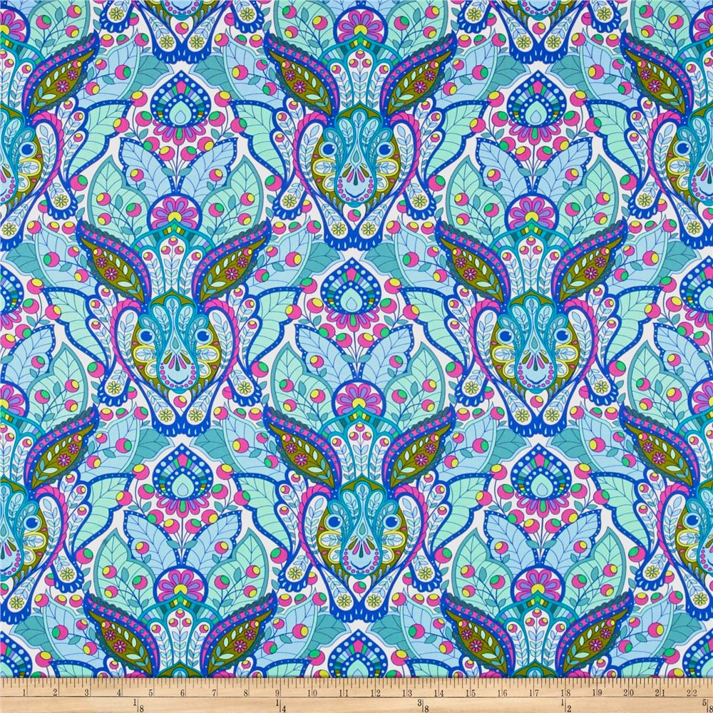 Tula Pink - Slow and Steady - The Hare - Blue - per quarter metre
