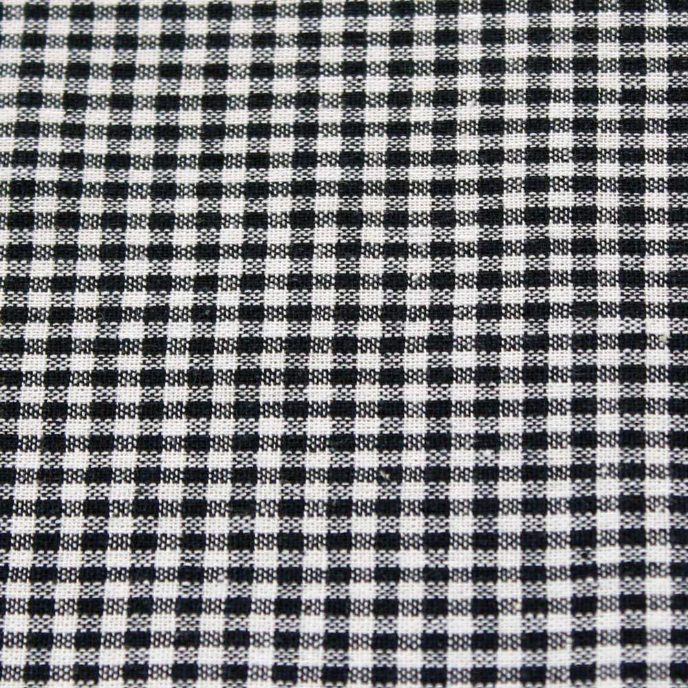 Vintage Check Dark Blue Fabric